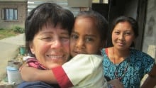 Quebec paramedic Ginette Traversy in Lanagol, Nepal
