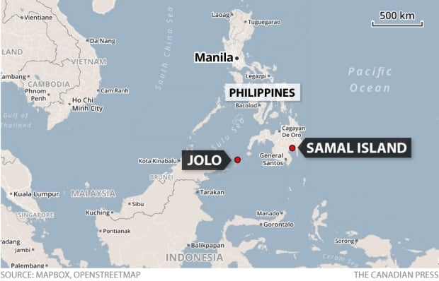 Jolo, Samal Island, John Ridsdel killed