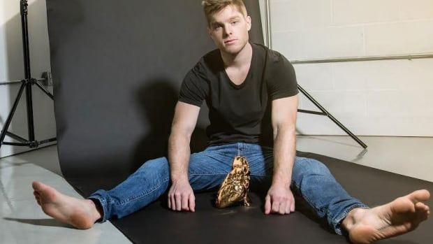 Brendon McNaughton, 26, created Heart of Gold to prompt people to question the value of the metal, considering the risk to those who mine for it. He used MRI scans and a 3-D printer to ensure the piece is anatomically correct.