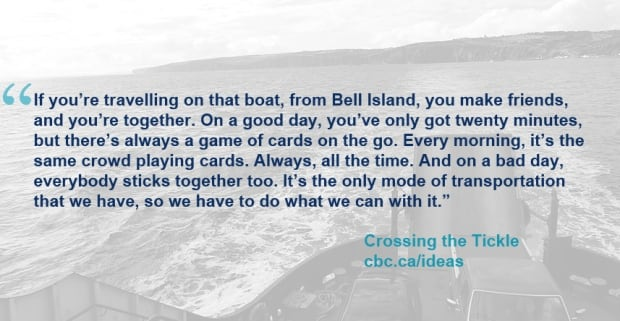 Crossing the tickle - Quote