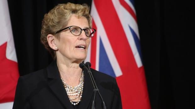 Kathleen Wynne spoke about the Ontario economy on Tuesday in Hamilton.