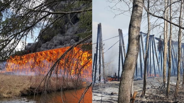 trestle bridge fire before and after