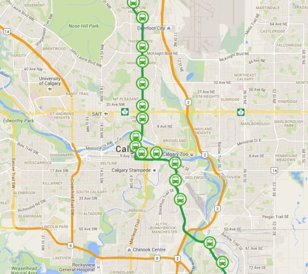 green line lrt will be built in stages city officials say calgary cbc news. Black Bedroom Furniture Sets. Home Design Ideas