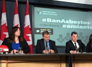 ban asbestos news conference