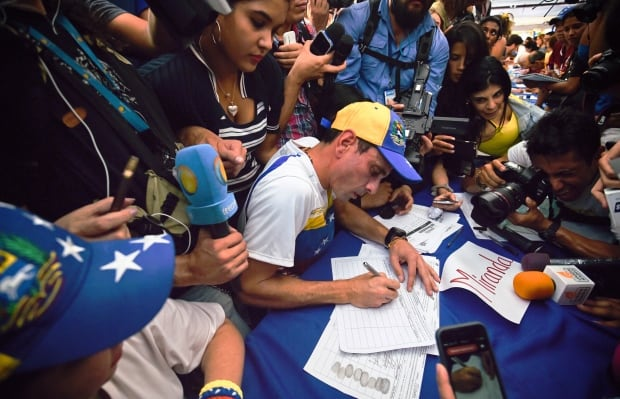 Venezuela opposition protest anti-government