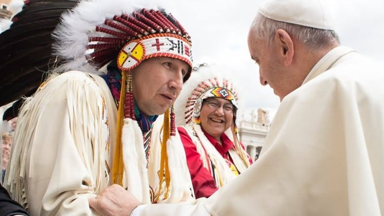 Chief Tony Alexis and Pope Francis