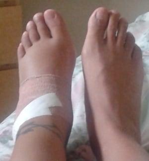 Erika Brathwaite's feet