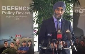 Harjit Singh Sajjan speaks in Vancouver on April, 22, 2016
