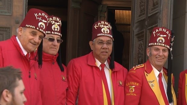 Shriners members welcome the public to their Masonic Temple. In order to be a Shriner, you must first be a member of the Masons.