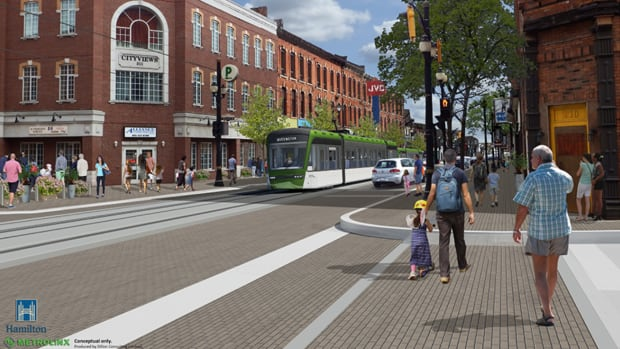 Under the LRT design plan, King Street at International Village will be one way for cars.