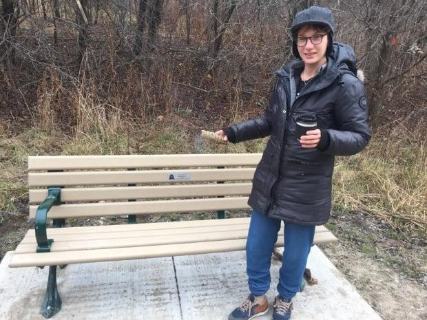 Rachel and bench