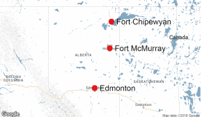 Fort Chip map
