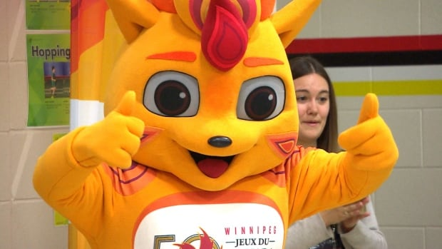 This is the mascot for the 2017 Canada Summer Games to be hosted in Winnipeg. Sudbury is in the running to host the event in 2021 against Ottawa, Niagara, and a combined bid from Kitchener-Waterloo, Cambridge and Guelph.