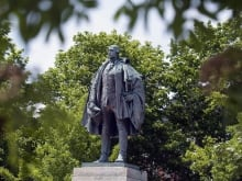"""I walk by that statue and it makes me shudder,"" said Halifax poet laureate Rebecca Thomas about the Edward Cornwallis statue in downtown Halifax."