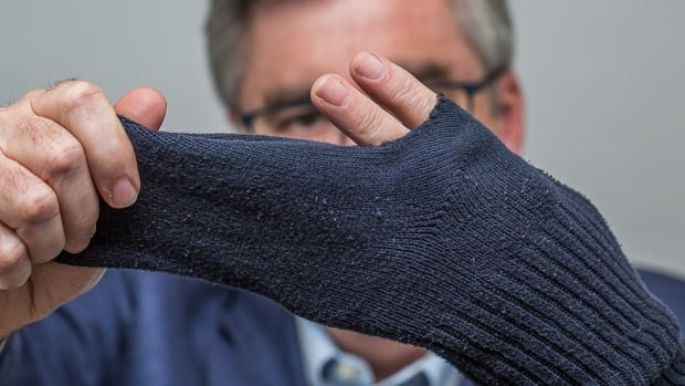 It all started with this holey sock, which got CBC reporter Havard Gould thinking about where our discarded textiles end up.
