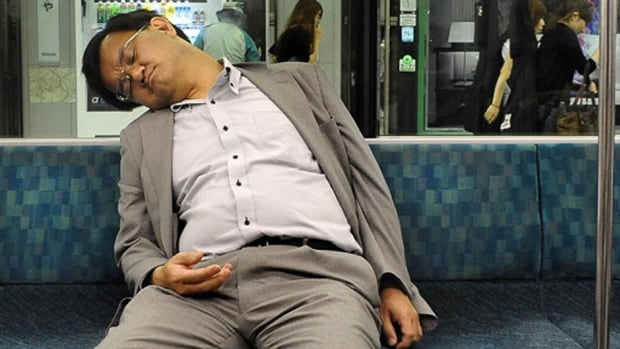 Commuters in Tokyo often nap on the subway because they're so sleep deprived, says a Japanese doctor and sleep expert.