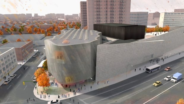 The proposed Inuit Art Centre at the WAG is seen in this artist's rendering.