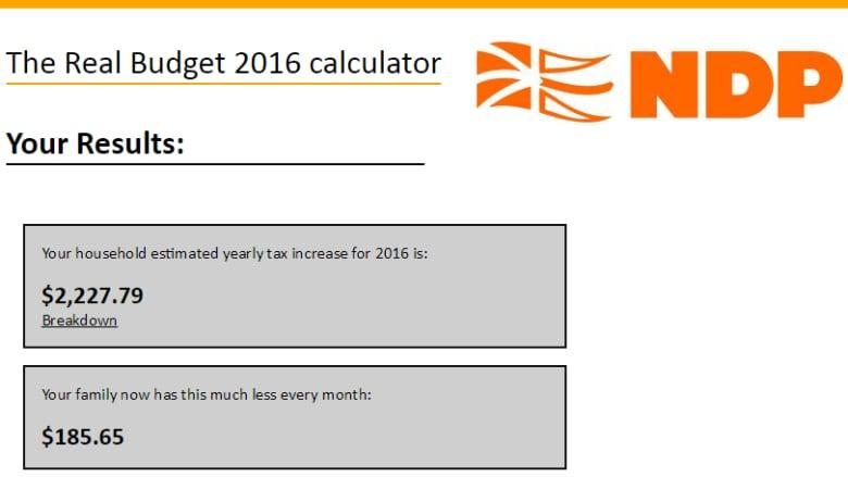 n l ndp launch tax hike calculator cbc news