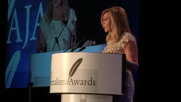 CBC Nova Scotia's Norma Lee MacLeod was the Lifetime Achievement winner at the Atlantic Journalism Awards 2015.