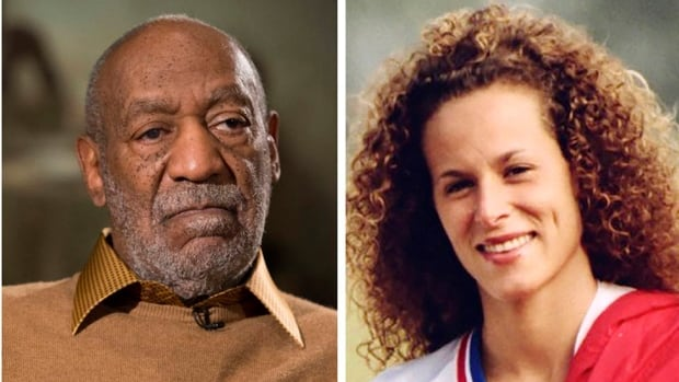 Supporters of Andrea Constand say the 44-year-old Toronto resident is ready to testify in Cosby's criminal sexual assault case. She is seen here in a 1987 photo. Cosby, left, pauses during an interview in 2014.