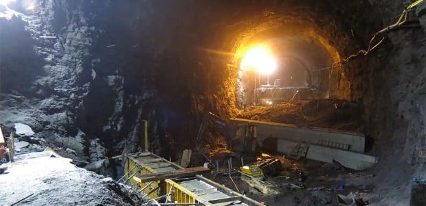 Byhaug Tunnel construction