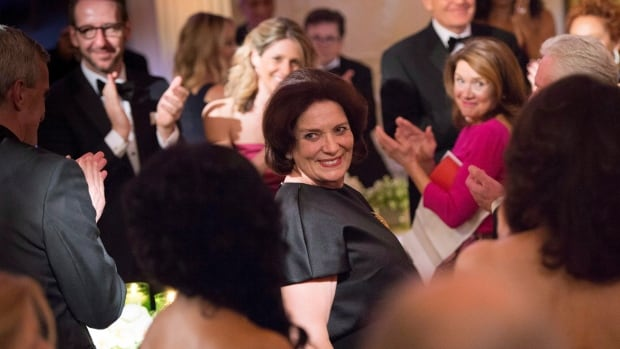 Margaret Trudeau, mother of Prime Minister Justin Trudeau, is applauded as she is introduced by U.S. President Barack Obama during a state dinner in Washington in March.