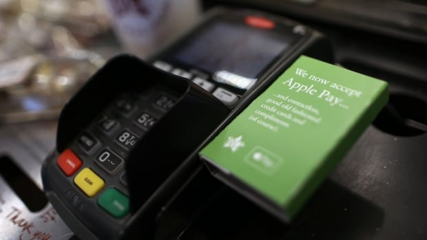 Apple Pay is a payment processing system that allows users to pay for items by waving their phone in front of a reader. Behind the scenes, Apple transfers money from their financial institution to the vendor.