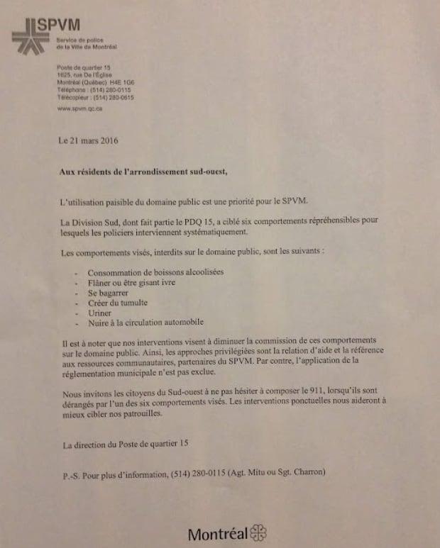 SPVM homeless flyer