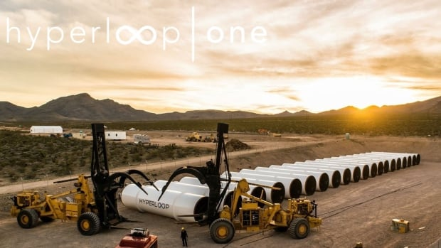 Hyperloop One sunset desert
