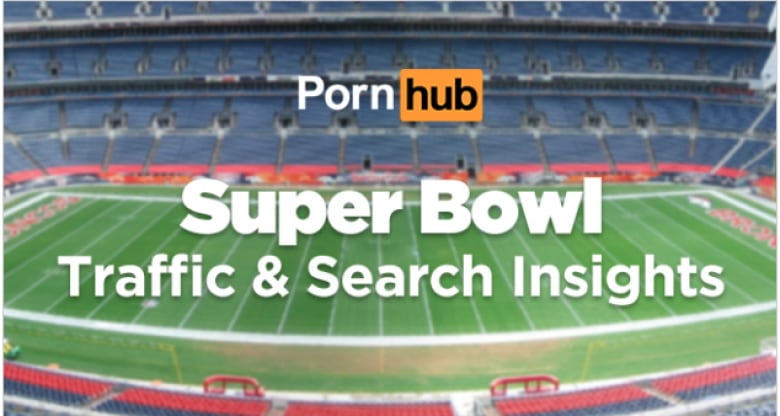 PornHub's research even shows what people search for during big events like  the Super Bowl. (image source: pornhub)