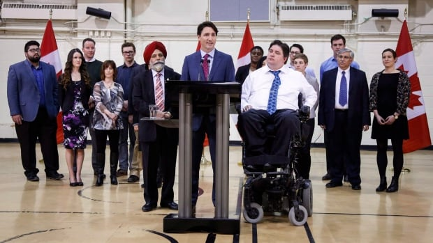 Prime Minister Justin Trudeau took part in a roundtable discussion on employment insurance in Calgary shortly after the federal budget was released in March. Documents obtained by The Canadian Press suggest more regions now meet the government's criteria for extended benefits, including Edmonton.