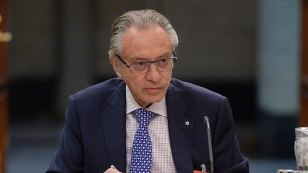Postmedia president and CEO, Paul Godfrey, appears at commons heritage committee on Parliament Hill in Ottawa on Thursday, May 12, 2016., to discuss the media and local communities. On Monday the company swapped newspapers with Torstar and will shut down most of them.