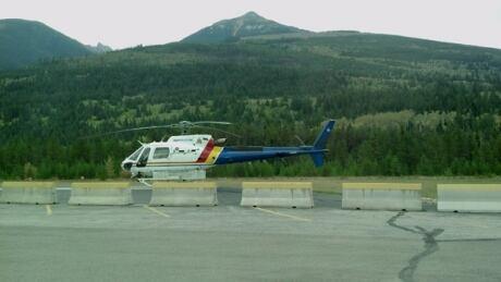 RCMP Helicopter in Valemount