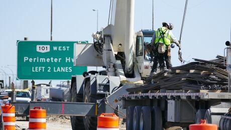 Highway 59 at Perimeter road work