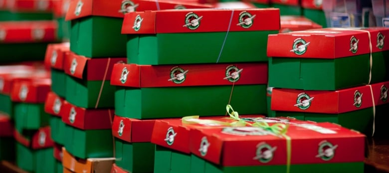 Operation Christmas Child Shoebox.N L Schools Stop Participation In Operation Christmas Child
