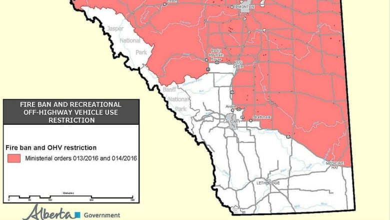 Fire and ATV bans lifted in parts of southern Alberta   CBC News