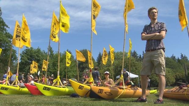 Kinder Morgan protest kayaks