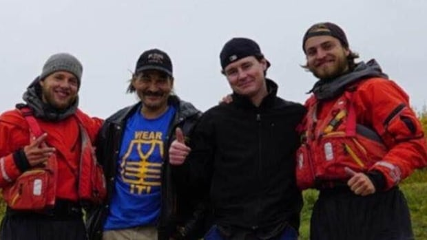 Danny Andre, second from left, went missing in September 2015, along with another man. RCMP said personal items recovered led them to believe that the men drowned.