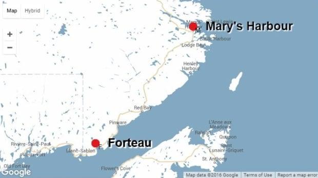 Forteau map