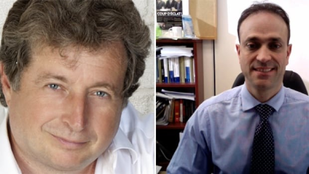 A briefing note prepared late last year reveals that RCMP officers conducted unauthorized physical surveillance of journalists Gilles Toupin, left, and Joel-Denis Bellavance in an attempt to discover the source of a leaked CSIS document.