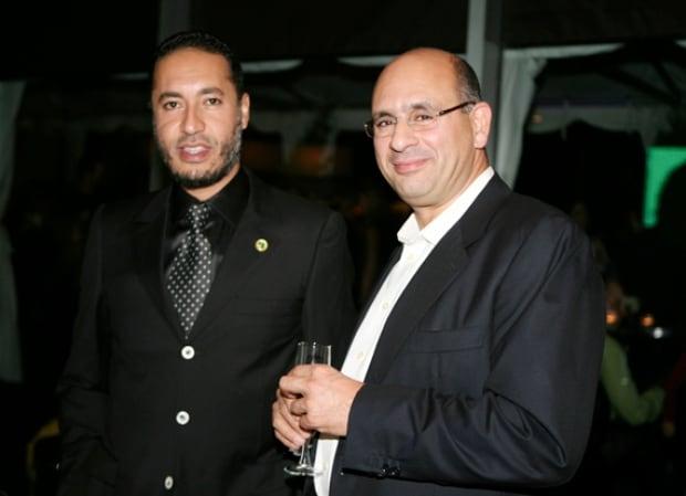 Riadh Ben Aïssa with Saadi Gadhafi