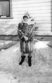 War bride Joan Reichardt, Saskatoon winter