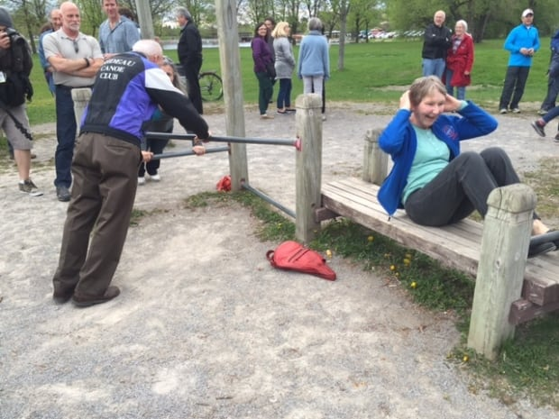 mooney's bay park protest exercise