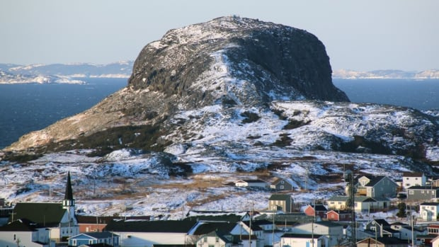 Brimstone Head, Fogo Island, often cited as one of the corners of the flat world.