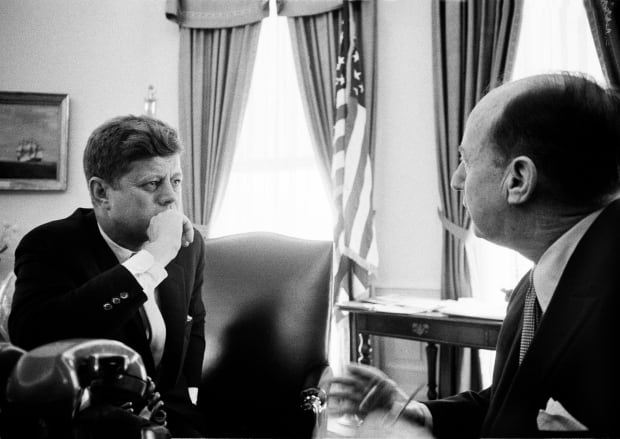 John F Kennedy and Adlai Stevenson, photographed by Douglas Kirkland