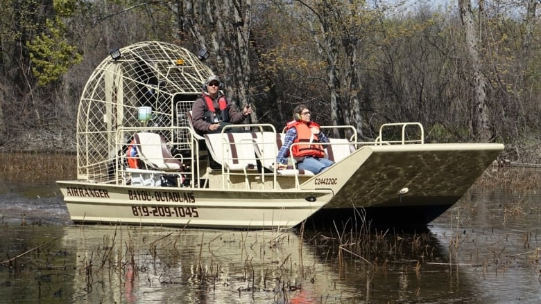 Bayou-Outaouais offers airboat tours of wetlands and marshes