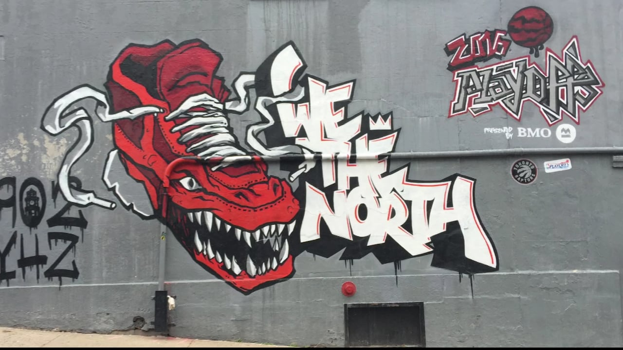 Toronto Raptors contract Halifax graffiti company for downtown ...