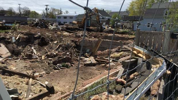 A gaping hole is all that's left of nine properties on Passmore and Chestnut streets in Charlottetown.