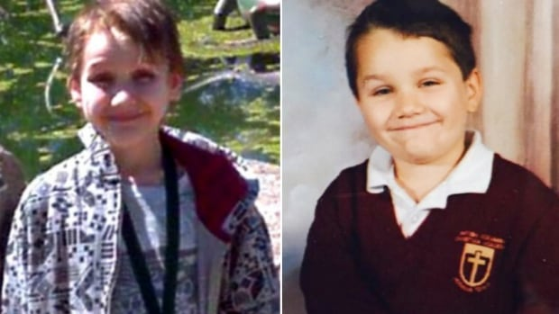 Alex Radita as a teen (left) in his parents' care and as a six-year-old (right) while in the care of a foster family in British Columbia