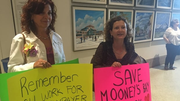 Anna Pellizzari and Linda Payne attended the Ottawa city council meeting on May 25, 2016, hoping to convince councillors to halt the Mooney's Bay playground project.